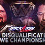 WWE 2018.5.6 バックラッシュ2018の対戦カード