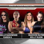マディソン・レインがROH女子王座挑戦権獲得!ブリスコブラザーズ対バウンサーズ!【ROH・#360】