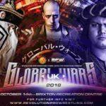 RPW&新日本プロレス 2018.10.14 グローバルウォーズUK2018の対戦カード
