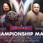 WWE・2018.10.6・スーパーショーダウン2018・試合結果・PART1【SDタッグ王座戦~女子6人タッグマッチ】
