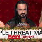フィン・ベイラー対ドリュー・マッキンタイア対ドルフ・ジグラー!【WWE・RAW・2018.12.24・PART1】
