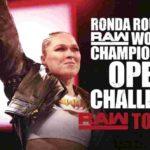 RAW女子王座戦・オープンチャレンジ!ベッキーがレッスルマニア35でRAW女子王座挑戦を宣言!【WWE・RAW・2019.1.28・PART2】
