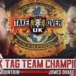 WWE・2019.1.12・NXT UK テイクオーバー:ブラックプールの対戦カード
