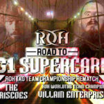 ROH・2019.3.31・ロードトゥG1スーパーカード・ボルチモアの対戦カード