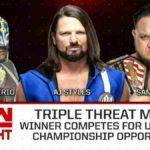 AJスタイルズ、バロン・コービンが次期ユニバーサル王座挑戦者決定戦進出!【WWE・RAW・2019.4.22・PART1】