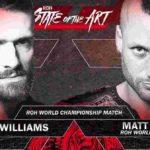 ROH世界王座戦、マット・テイヴェン対トレイシー・ウィリアムズ!【ROH・#407】