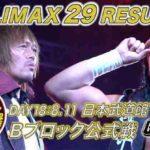 新日本プロレス・試合結果・2019.8.11・G1クライマックス29・18日目(Bブロック最終公式戦)・PART2