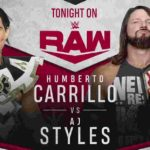 AJスタイルズ対ウンベルト・カリーヨ!フォールズカウントエニウェアマッチ!【WWE・RAW・2019.10.28・PART2】