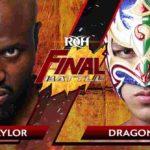 ドラゴン・リー(リュウ・リー)がROH世界TV王座獲得!ROH・2019.12.13・ファイナルバトル・試合結果