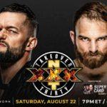 WWE・2020.8.22・NXTテイクオーバー30・試合結果・PART1【プレショー~北米王座決定戦】