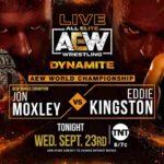 AEW世界王座戦、ジョン・モクスリー対エディ・キングストン!【AEW・2020.9.23・後半】