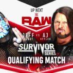 AJスタイルズ、キース・リーがチームRAWとしてサバイバーシリーズ2020出場決定!【WWE・RAW・2020.10.26・PART1】