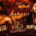 ROH・2020.12.18・ファイナルバトル2020・試合結果