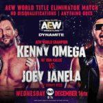ノーDQ戦、ケニー・オメガ対ジョーイ・ジャネラ!アクレイムドがタッグ王座挑戦表明!【AEW・2020.12.16・後半】
