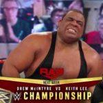 キース・リーがスピリットボムでWWE王座挑戦権獲得!AJスタイルズ快勝!【WWE・RAW・2020.12.28・PART1】